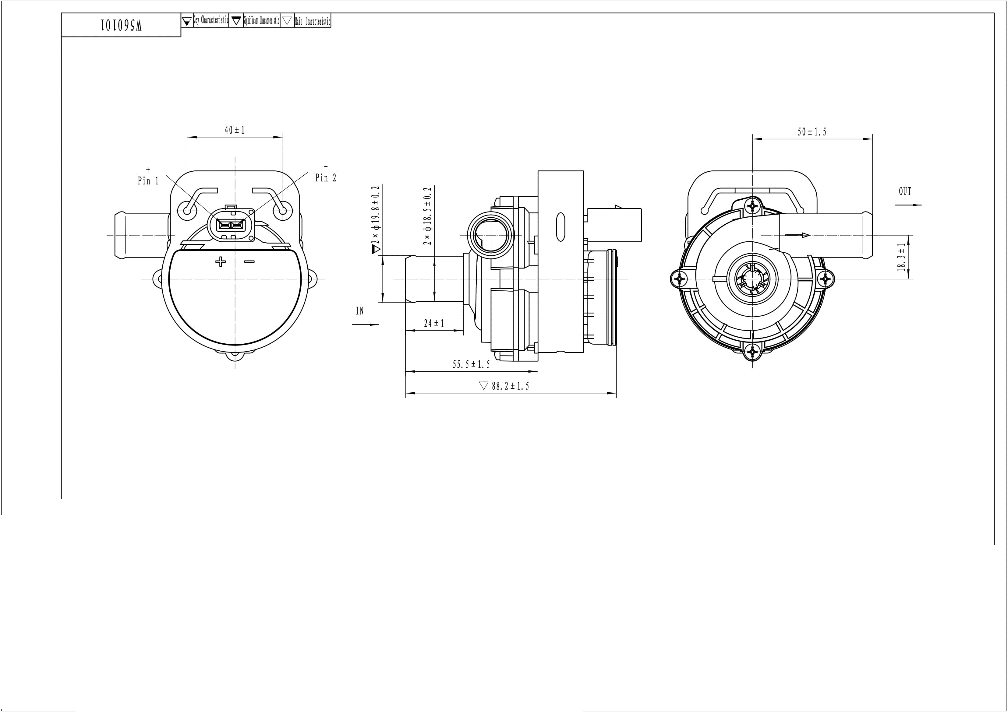 WEBURG - Электрические водяные помпы mercedes-benz, vw crafter 2.5tdi 06-11/2.0tdi 11> 12v,5 kpa,850lph