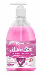 GRASS - Антибактериальное жидкое мыло Milana Kids fruit bubbles с дозатором 0,5 л (15шт/уп)
