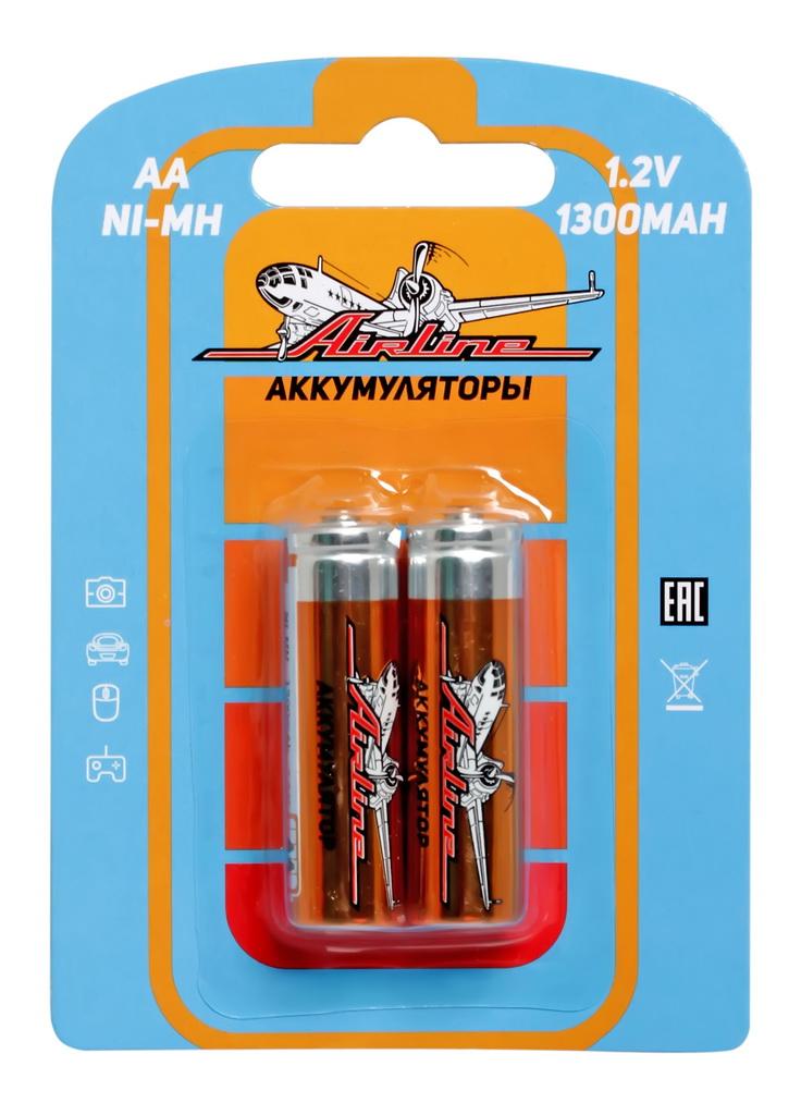AIRLINE - Батарейки AA HR6 аккумулятор Ni-Mh 1300 mAh 2шт.