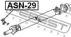 FEBEST - КРЕСТОВИНА КАРДАННОГО ВАЛА 28x53 (NISSAN TERRANO III PATHFINDER R50 1995-2003) FEBEST